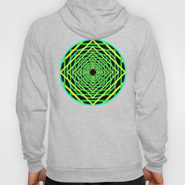 Diamonds in the Rounds Blacklight Neons Yellow Greens Hoody