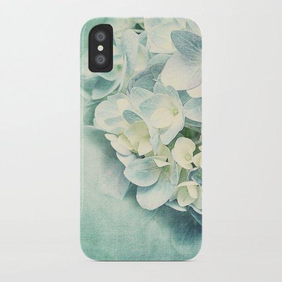 MINT HYDRANGEA iPhone Case