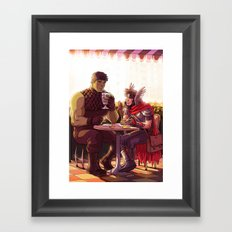 William and Theodore 24 Framed Art Print