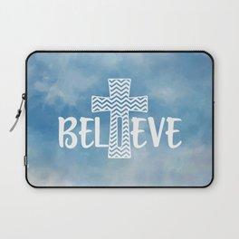 Believe Bible Quote Laptop Sleeve