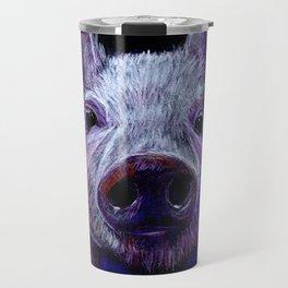 Colorist Pig Illustration Travel Mug