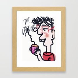 Mi Amor Framed Art Print