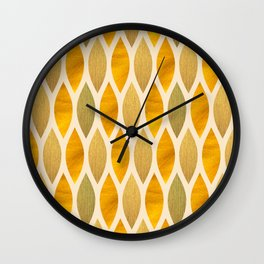 Golden Scales Wall Clock