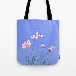 Cosmos and shrimp Tote Bag