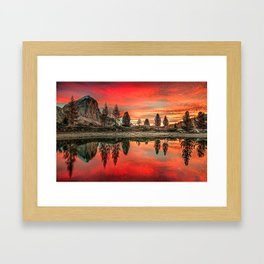Lake in Italy Framed Art Print