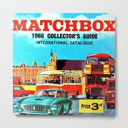 1966 Matchbox International Toy Car Collector's Guide London Poster Metal Print