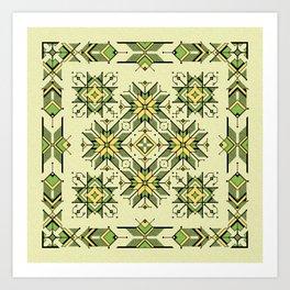 shaman trance   tribal pattern Art Print