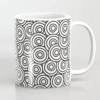 arya stark Mugs featuring Stark Circles by SonyaDeHart