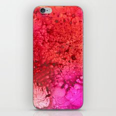 Red to pink spattered iPhone & iPod Skin