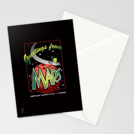 Greetings from Mars! Stationery Cards