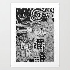 alice's dreams Art Print