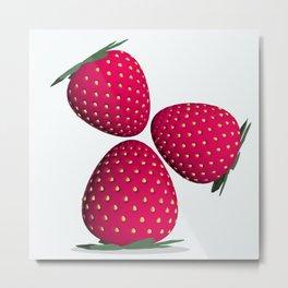 Delicious Strawberry Metal Print