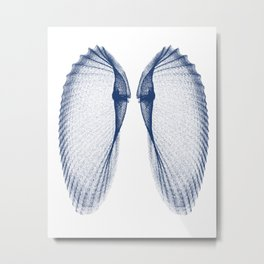 Angel Wings Seashell Metal Print