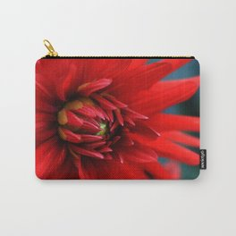 Fire red dahlia Carry-All Pouch