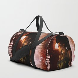 Wonderful steampunk lady Duffle Bag