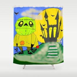 Franken Zombie Night Shower Curtain