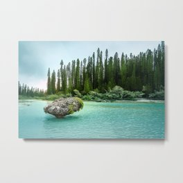 In the wilderness - Natural lagoon at Isle of Pines, New Caledonia Metal Print
