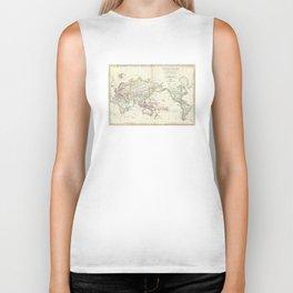 Vintage Map of The World (1816) Biker Tank