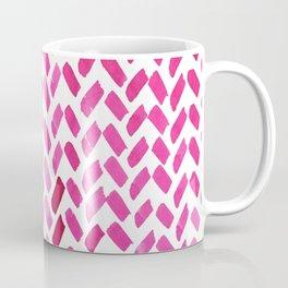 Cute watercolor knitting pattern - pink Coffee Mug