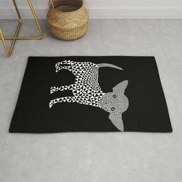 Chihuahua dog - black Rug
