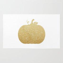 Gold Glitter Pumpkin Rug