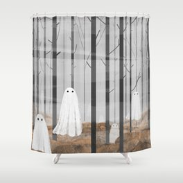 The Woods are full of Ghosts Shower Curtain