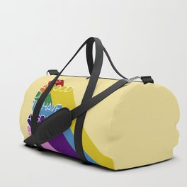 It's a good day - yellow Duffle Bag