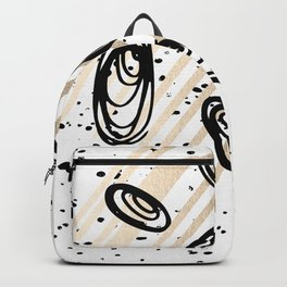 The Visitors - Black White and Gold Backpack