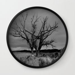 One Lonely Tree Wall Clock