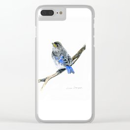 Blue Belle by Teresa Thompson Clear iPhone Case