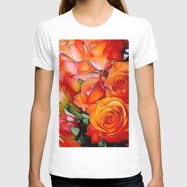 Orange Roses T-shirt