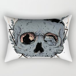 Frogs On Skull Rectangular Pillow