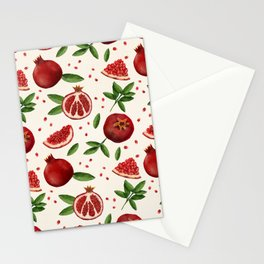 Pomegranates and Seeds Stationery Cards
