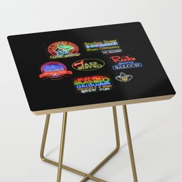 Bourbon Street Neon Signs Side Table