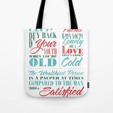 Satisfied Mind Tote Bag