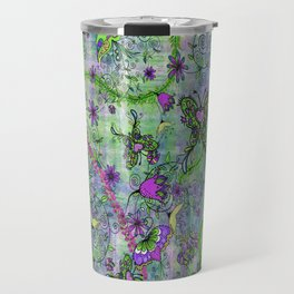 Pretty Retro Forest Creatures Travel Mug