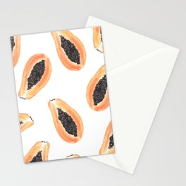 Papayas by Sabina Fenn Stationery Cards