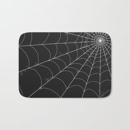 Spiderweb on Black Bath Mat