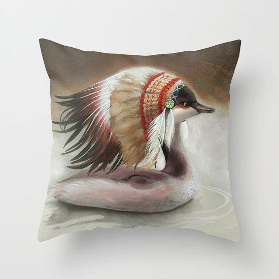 Little Duck. Throw Pillow