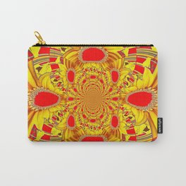 RED & YELLOW GEOMETRICAL-OPTICAL ART Carry-All Pouch
