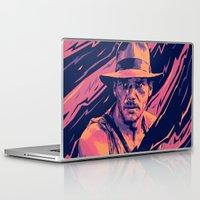 indiana jones Laptop & iPad Skins featuring indiana jones// bad actors v2 by mergedvisible