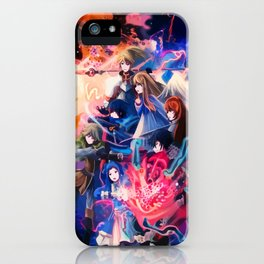 Neon All heroes iPhone Case