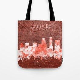 louisville skyline vintage red Tote Bag