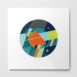Binaries on White Metal Print