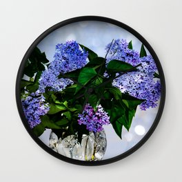 Mother day lilac Wall Clock