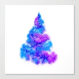 Music Watercolor Christmas Tree Canvas Print