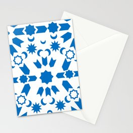 Blue Arabesque Stationery Cards