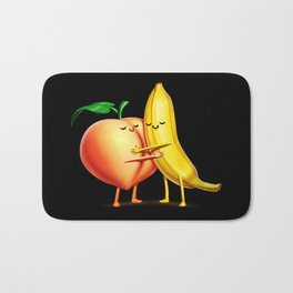 Peach and Banana Cute Friends Bath Mat