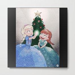 Frozen X-mas Tree Metal Print