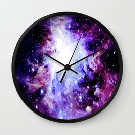 orion Nebula. Purple Magenta Violet Wall Clock